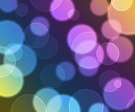 Blurred circles on blue and purple Royalty Free Stock Photos