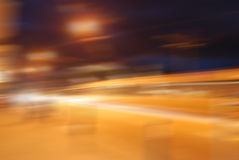 Blurred city. Lights in the night royalty free stock image