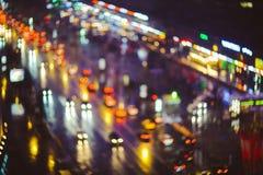 blurred city lights Στοκ Φωτογραφίες