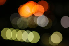 Blurred City Lights Stock Images