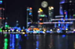 blurred city lights Στοκ Εικόνα