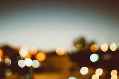 Blurred city lights Royalty Free Stock Photos