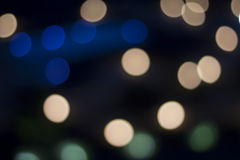 Blurred city lights background Royalty Free Stock Photography