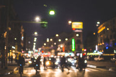 Blurred city and people. Urban scene Royalty Free Stock Photos
