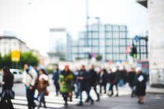 Blurred city and people. Urban scene Stock Images