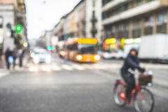 Blurred city and people Stock Images