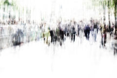 Blurred city people walking Royalty Free Stock Photos