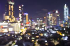 Blurred city shot showing electrical grid and great urban planning to power millions of homes and give electricity and lights to e royalty free stock photography