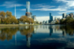 Blurred City Skyline (Melbourne) Royalty Free Stock Image