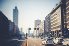 Blurred city tilt shift Royalty Free Stock Photography