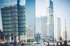 Blurred city tilt shift Royalty Free Stock Photo