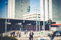 Blurred city tilt shift Royalty Free Stock Images