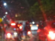 Blurred city traffic. Royalty Free Stock Photography