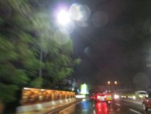 Blurred city traffic. Stock Photos