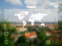 blurred city website design Stock Image