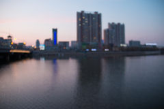 Blurred cityscape river Royalty Free Stock Images