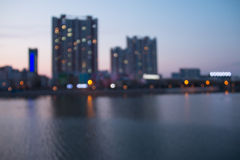 Blurred cityscape river Royalty Free Stock Photography