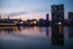 Blurred cityscape river Royalty Free Stock Photo