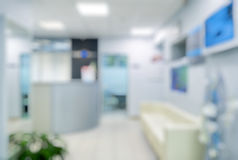 Blurred clinic interior stock image