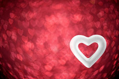 Blurred color hearts Royalty Free Stock Photo
