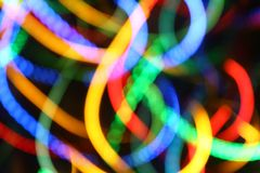 Blurred color lights. Festive background Royalty Free Stock Photos