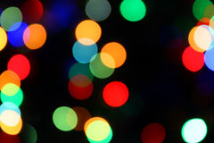 Blurred color lights Royalty Free Stock Photography