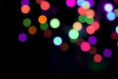 Blurred color round bokeh led lights abstract background royalty free stock images