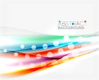 Blurred color waves, lines. Vector abstract background template Stock Photo