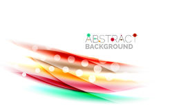 Blurred color waves, lines. Vector abstract background template. Blurred color waves, lines. Vector abstract background with copyspace Royalty Free Stock Photo