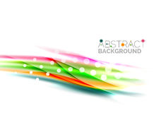Blurred color waves, lines. Vector abstract background template Royalty Free Stock Images