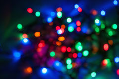 Blurred colored Christmas lights background Royalty Free Stock Photo