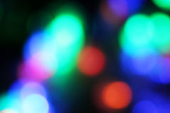 Blurred colored highlights. Different objects with unusual angle of light Stock Images