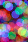 Blurred Colored Light Circles. Abstract Red Green Blue Background of Defocused Colored Light Circles Royalty Free Stock Photos