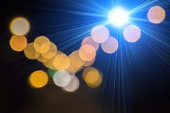 Blurred colored light lamps Stock Photo