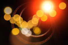 Blurred colored light lamps Stock Photos