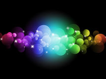 Blurred colored lights. Holiday illumination background vector illustration