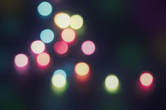 Blurred colored lights garland Stock Image
