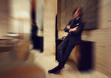 Blurred colorful background of business man in luxury interior Stock Photo