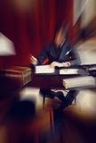 Blurred colorful background of business man in luxury interior Stock Image