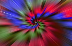 Blurred colorful background. Spots diverge in a spiral from the middle to the edges. Stock Images