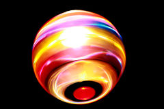 Blurred colorful ball of light spinning Stock Image