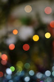 Blurred colorful bokeh of christmas lights Stock Image