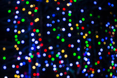 Blurred Colorful Christmas Lights Background Royalty Free Stock Photo
