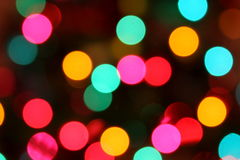 Blurred Colorful Circle Lights Royalty Free Stock Photo
