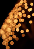Blurred colorful circles bokeh of christmas lights Royalty Free Stock Image
