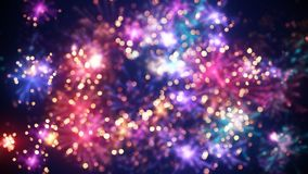 Blurred colorful fireworks holiday background. Blurred colorful fireworks. Digital designed holiday background Stock Photo