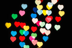 Blurred  colorful hearts Stock Photo