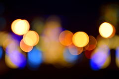 Blurred colorful  lights Royalty Free Stock Photos