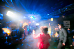 Blurred colorful lights inside music club Royalty Free Stock Photography