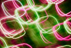 Abstract background in green and pink tones. Blurred colorful lights in motion. Abstract background in green and pink tones vector illustration